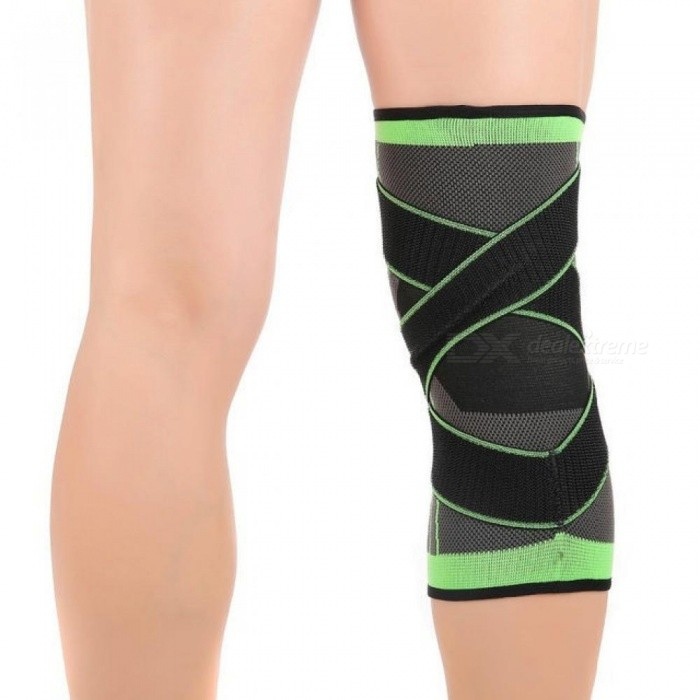 5b6456f9ad ... 1 PC 3D Pressurized Fitness Running Cycling Knee Support Braces Elastic  Nylon Sports Compression Pads Sleeve