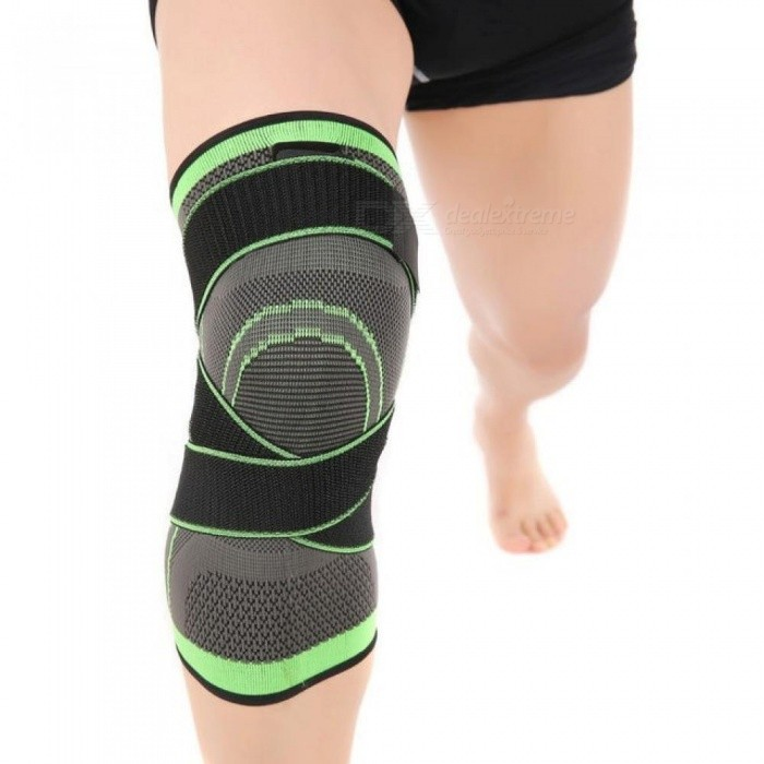 0a94dc6044 1 PC 3D Pressurized Fitness Running Cycling Knee Support Braces Elastic  Nylon Sports Compression Pads Sleeve
