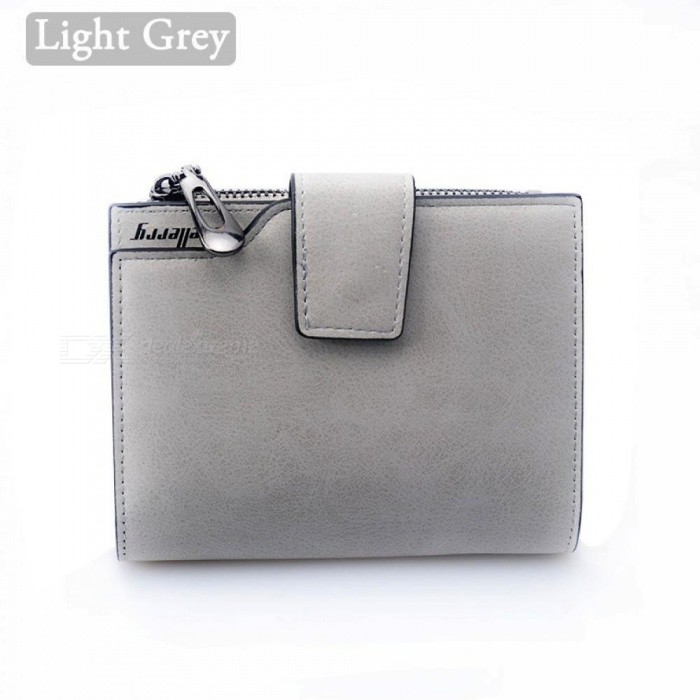 5bbfde982e0c Wallet Women Vintage Fashion Top Quality Small Wallet Leather Purse Female  Money Bag Small Zipper Coin Pocket Light Grey