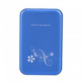 "Aluminium alloy USB 3.0 2.5"" SATA External HDD HD Hard Drive Disk Enclosure Cover Case Blue (HDD NOT include) Blue"