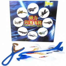 1 Pcs Helicopter Flying Toy Amazing LED Light Arrow Plane Party Fun Gift Led Light Kids Flashing Flying Toys Blue
