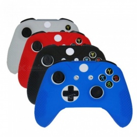 Soft Silicone Rubber Skin Gamepad Protective Case Cover for Microsoft Xbox One S Controller Multi Colors Optional Blue