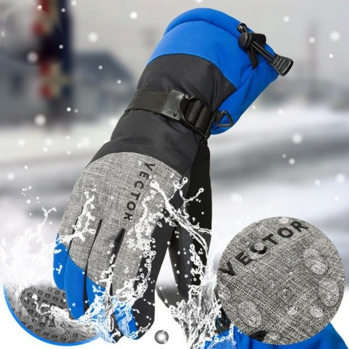 Women Men Ski Gloves Snowboard Gloves Snowmobile Motorcycle Riding Winter Gloves Windproof Waterproof Unisex Snow Gloves Women M/Red