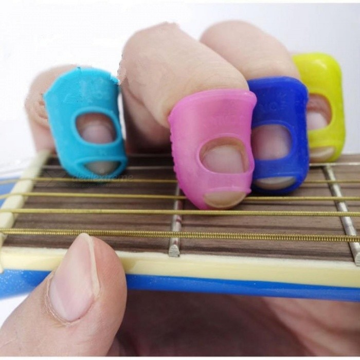 Silicone Guitar Thumb Finger Picks Protector Plectrum