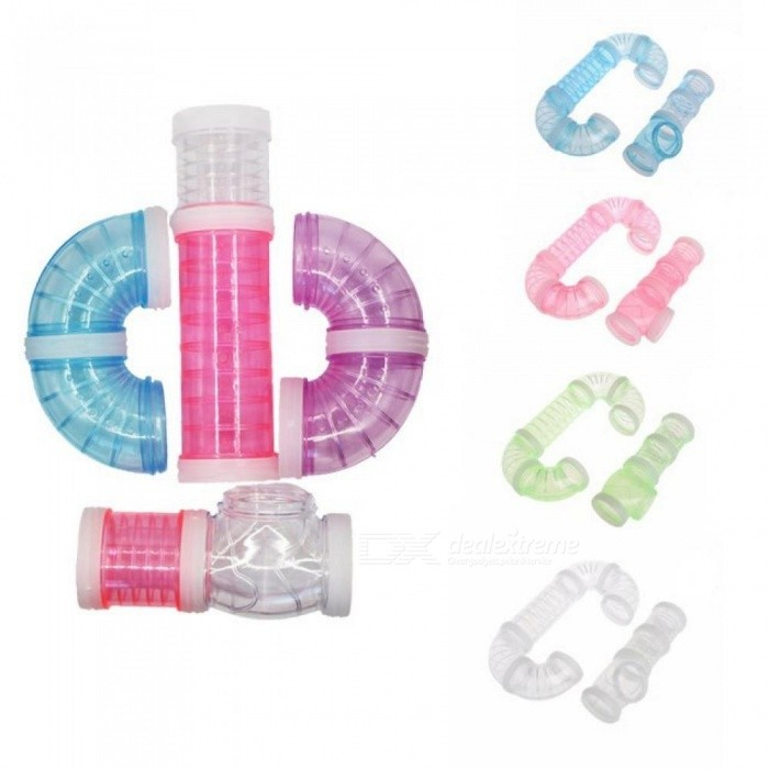 Multi-Style Hamster Tunnel Fittings Transparent Acrylic Cage Hamster Accessories Cheap Small Pet Toys
