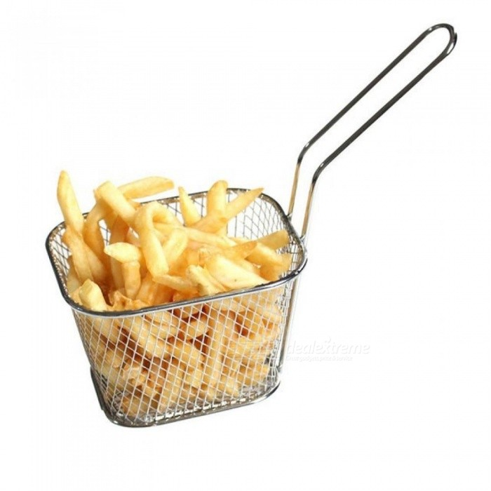 1 X Stainless Steel French Fries Basket Fry Basket Strainer Kitchen Cooking Tool