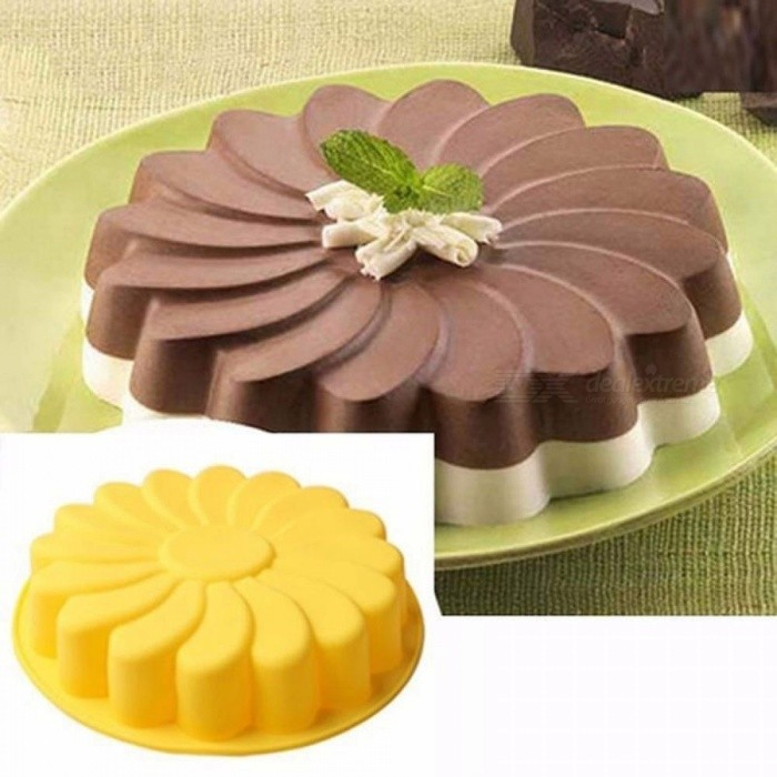 DIY 3D Sunflower Form Fondant Cake Silicone Mold Baking Cortador de Biscoito Kitchen Pastry Cake Decorating Tools 5Colors