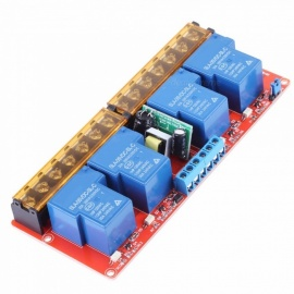 VBESTLIFE AC 100-250V 30A 4 Channel Relay High Low Level Trigger Module Solid State Relay Module Board High/Low Level Trigger Blue
