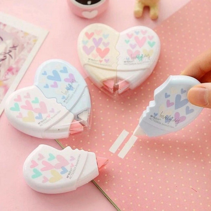 Love heart correction tape material escolar kawaii stationery office love heart correction tape material escolar kawaii stationery office school supplies with 10m 2pcspair 2pcspair gumiabroncs Images