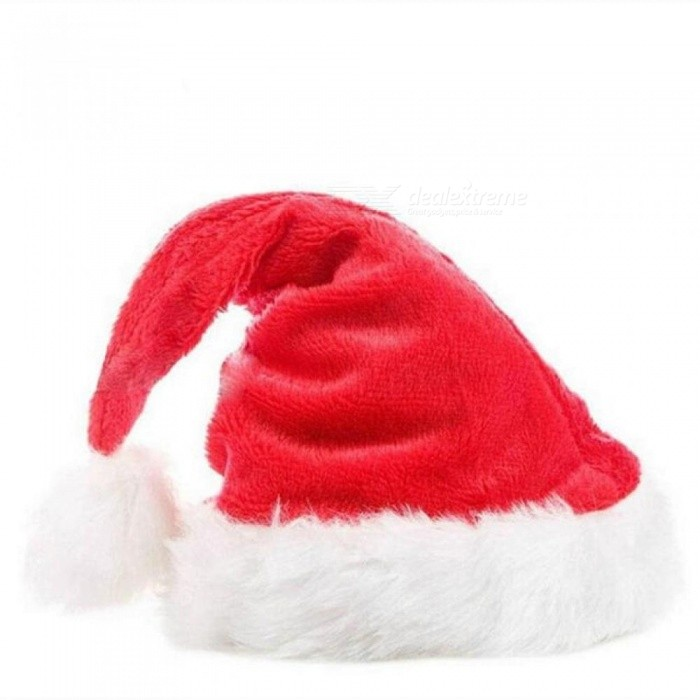 Christmas Hats Caps Santa Claus Xmas Cotton Cap Christmas Gift New Year Cap Merry Christmas Decoration Red - Worldwide Free Shipping - DX