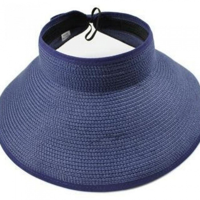 5f96a59a20b ... Spring Summer Visors Cap Foldable Wide Large Brim Sun Hat Beach Hats  for Women Straw Hat