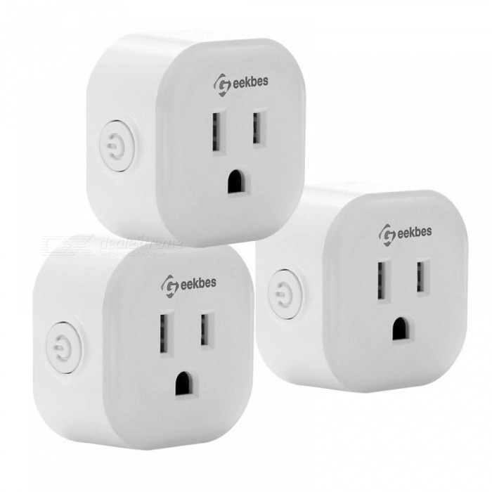 S08 Mini Smart Socket Voice Control With Echo/Google Home WiFi Mini Plug  APP Remote Control for Android iOS US Standard 2PCS