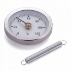 Pipe Clip-on Dial Thermometer Temperature Gauge With Spring 63x10.2mm For HVAC Aluminum  Material For 1PCS Aluminum