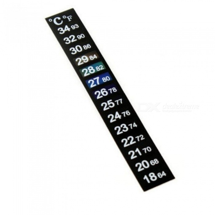 lcd digital stick on thermometer temperature gauge heater sticker