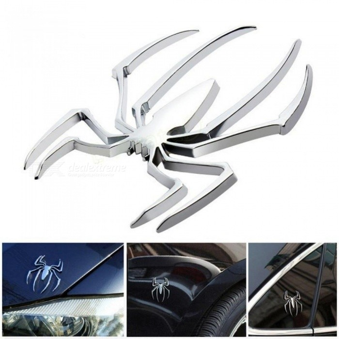 Car Styling Accessories Metal Sticker Chrome Spider Badge Emblem