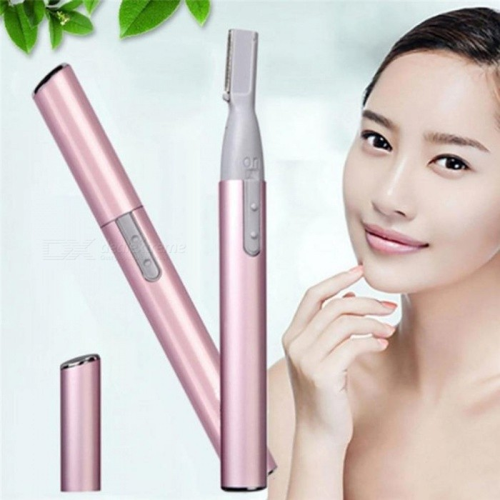 Pink Color Practical Electric Face Eyebrow Scissors Hair Trimmer Mini Portable Women Body Shaver Remover Blade Razor Epilator Pink
