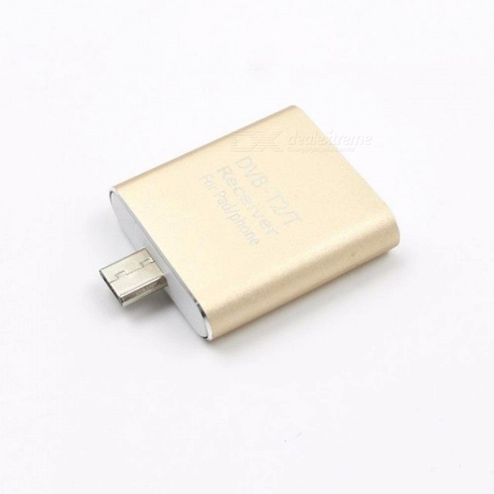 DVB-T2 H 265/DVB-T2 /DVB-T Android TV Tuner Pad TV Tuner Digital Satellite  Receiver TV Stick Dongle Receiver for Android Phone Gold