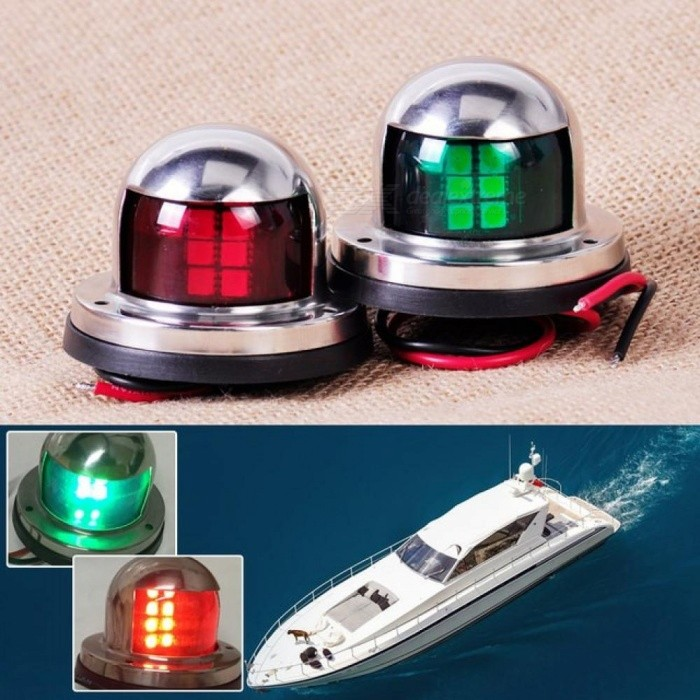 Atv,rv,boat & Other Vehicle Boat Parts & Accessories Cheap Sale 1pair 12v Marine Boat Yacht Led Bow Navigation Light Stainless Steel Red Green Sailing Signal Light