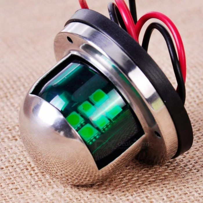 Cheap Sale 1pair 12v Marine Boat Yacht Led Bow Navigation Light Stainless Steel Red Green Sailing Signal Light Marine Hardware