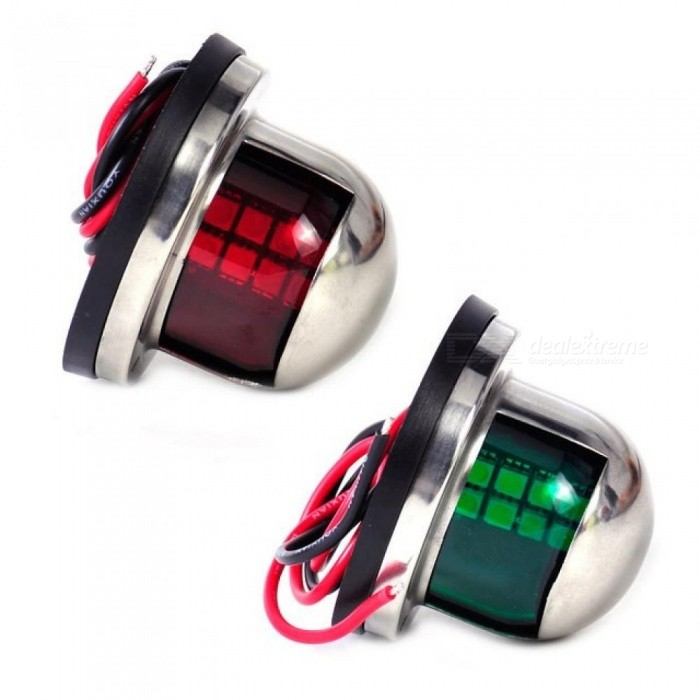 Boat Parts & Accessories Cheap Sale 1pair 12v Marine Boat Yacht Led Bow Navigation Light Stainless Steel Red Green Sailing Signal Light