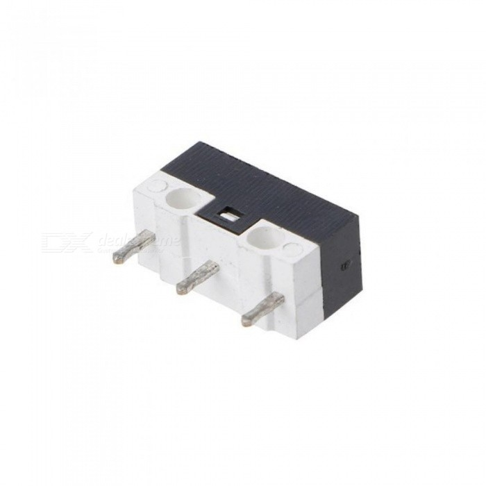 Button Switch 3 Pin Mouse Switch Microswitch For RAZER Logitech G700 Mouse  With Black & White Color For 10PCS 10pcs