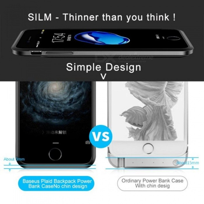Charger Case for iPhone 7 7Plus Powerbank Battery Case for iPhone 7 Plus Charging Case Mobile Phone Power Bank Cover Case