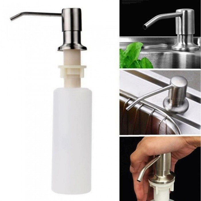 Kitchen Soap Dispenser Bathroom Detergent Dispenser for Liquid Soap Lotion Dispensers Tools Stainless Steel Head +