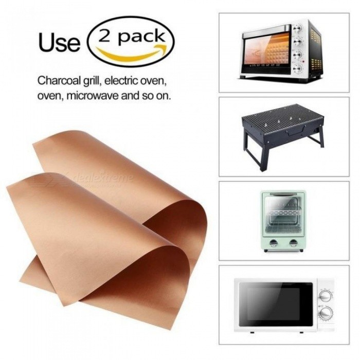 Kitchen Copper Chef Grill And Bake Mats Outdoor Bbq Tools