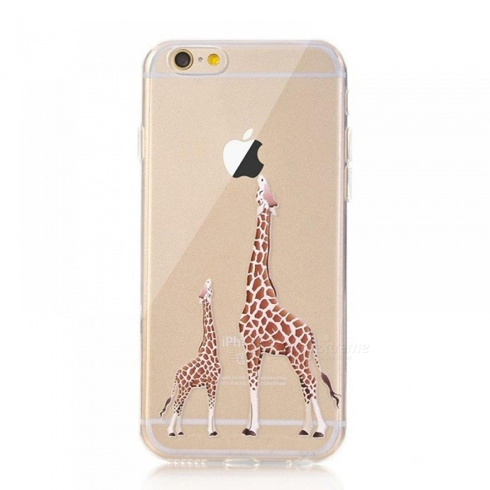 91ada634ae4 Giraffe TPU Soft Rubber Silicone Skin Cover for iPhone 8 Plus X 10 6 6S 5 5S  SE Portefeuille for iPhone 7 Cases Accessories With Package/For iPhone 8 ...