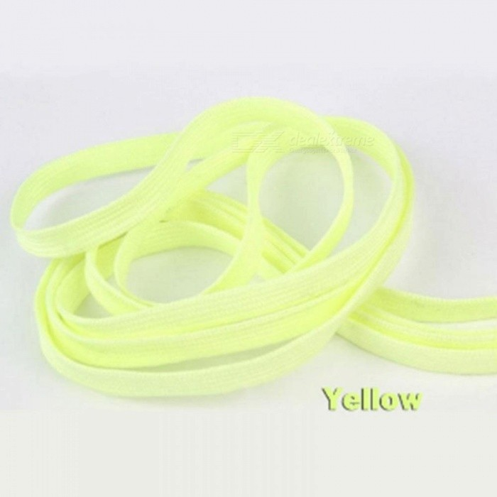 Sport Luminous Shoelace Glow In The Dark Night Color Fluorescent Shoelace Athletic Sports Flat Shoe Laces Hot Selling 1 Pair 120