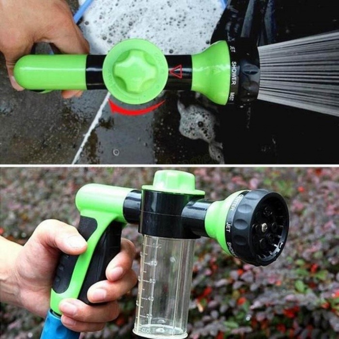 Multifunction Portable Auto Foam Water Gun High Pressure 3 Grade Nozzle Jet Car Washer Sprayer Cleaning Tool Green - Worldwide Free Shipping - DX