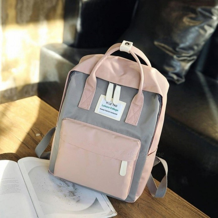 Multifunction Women Backpack Fashion Youth Korean Style Shoulder Bag Laptop  Backpack Schoolbags for Teenager Girls Boys Travel L27 W12 H36 cm Gray ... c7cda240fcea1