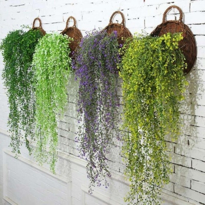 85cm Artificial Hanging Flower Plant Fake Vine Willow Rattan Flowers Artificial Hanging Plant for Home Garden Wall Decoration 1 - Worldwide Free Shipping - ...