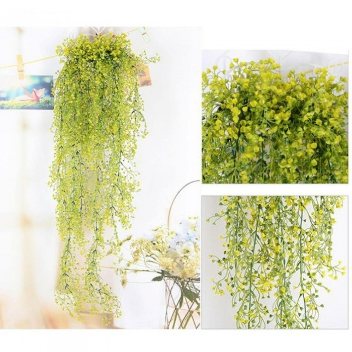a7b2f220566 85cm Artificial Hanging Flower Plant Fake Vine Willow Rattan Flowers  Artificial Hanging Plant for Home Garden
