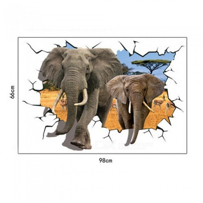 3d elephants wall stickers home decor sticker for kids rooms animal