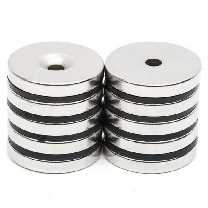 10 Pcs/Set Disc Mini 29.7x4.7mm with Bore 5mm N52 Rare Earth Strong Neodymium Magnet Bulk Super Strong Round Shape Magnets