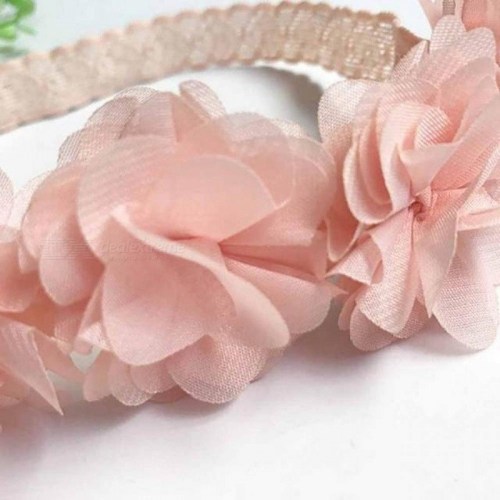 876118dc8383 Cute Baby Girl Toddler Lace Flower Hair Band Headwear Kids Headband  Accessories With Pink Color Round