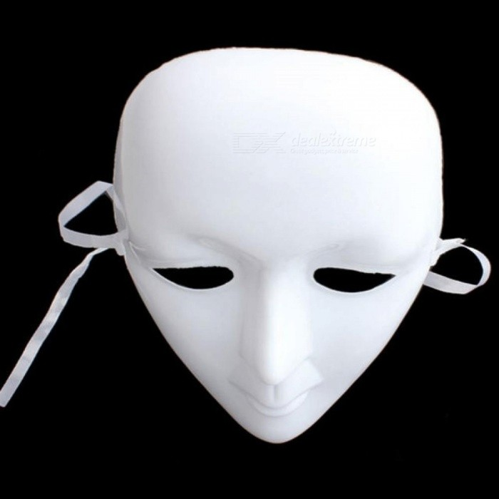 Scary Mask Plastic White Mask Ball Party Costume Halloween Mask Full Face Masquerade DIY Mime Cosplay Props Halloween Decoration Plastic & Scary Mask Plastic White Mask Ball Party Costume Halloween Mask Full ...
