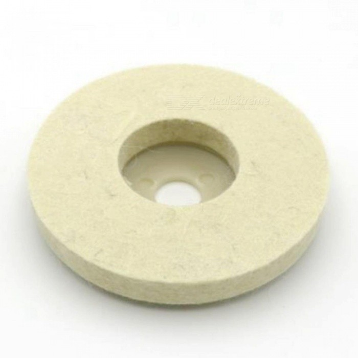 4 Inch Wool Felt Polishing Wheel Angle Grinder Buffing Felt Polishing Disc for Rotary Tool Abrasive Grinding 10PCS