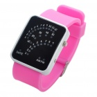 Stylish Water Resistant 29-LEDs Red & Blue Light Wrist Watch - Pink (1 x CR2016)