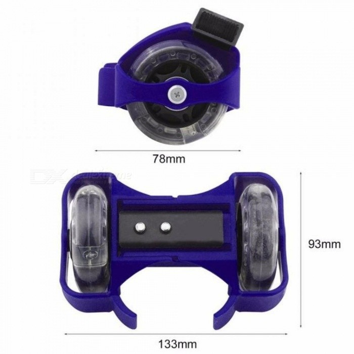 1 Pair Flashing Roller Skating Shoes Small Whirlwind Pulley Flash Wheel Roller Skates Sports Rollerskate Shoes for Kids