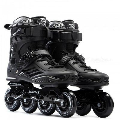 Skate S6 Inline Skates Professional Slalom Adult Roller Skating Shoes Sliding Free Skating Good As SEBA Patines Adulto 35/Black