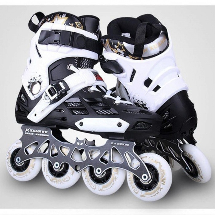 9eddf093c63dbd ... Skate Professional Adult Roller Skating Shoes 4x80 3x110mm Changeable  Slalom Speed Patines Free Skating Racing ...