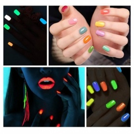 Glow In Dark Fluorescent Neon Luminous Uv Nail Gel 20 Colors Soak Off Gel Varnish Lighting In Night Gel Nail Polish Cyan