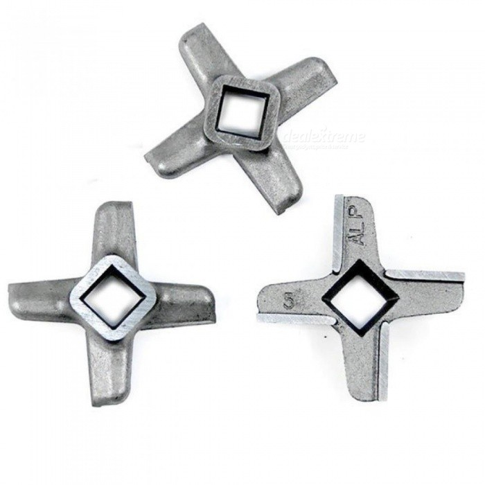 Meat Grinder Spare Parts #5 Blades Mincer Knife Fit Bosch Philips Siemens For 3 Pieces Stainless Steel Material