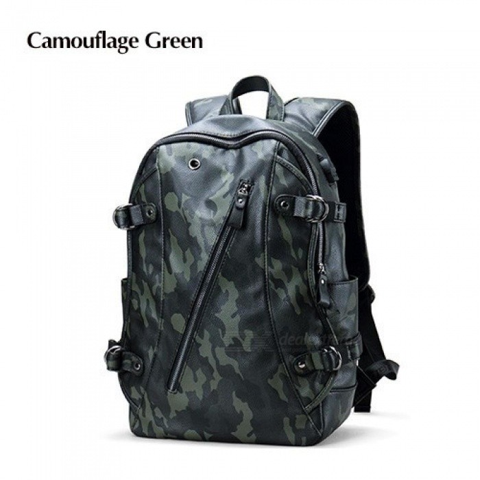 8e310387fc80 Men Backpack External USB Charge Waterproof Backpack Fashion PU Leather  Travel Bag Casual School Bag for ...