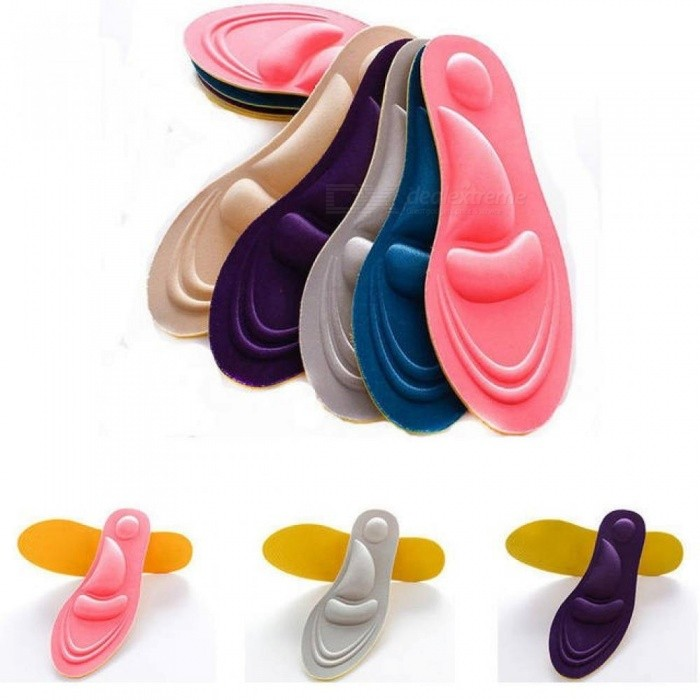4D Sports Sponge Soft Insole High Heel Shoe Pad Pain Relief Insert Cushion Pad Memory Foam Cotton Insoles