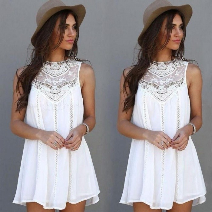 Womens Summer Dresses Summer White Lace Mini Party Dresses Sexy Club