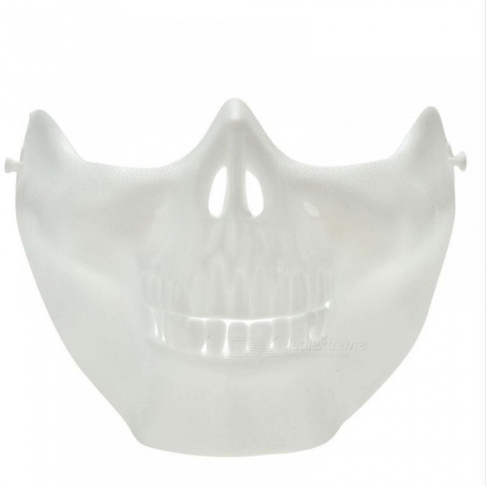 Scary Skull Skeleton Mask Halloween Costume Half Face Masks For Party Black7White Color Option For 1 Pieces