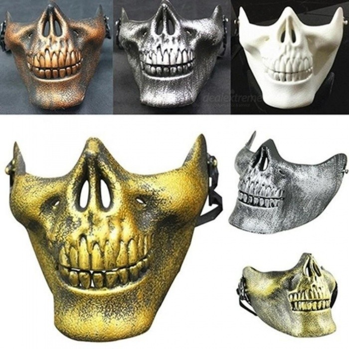 Costume Party Airsoft Skull Mask Motorcycle Skeleton Half Face Masks Outdoor Activities Fashion Decor
